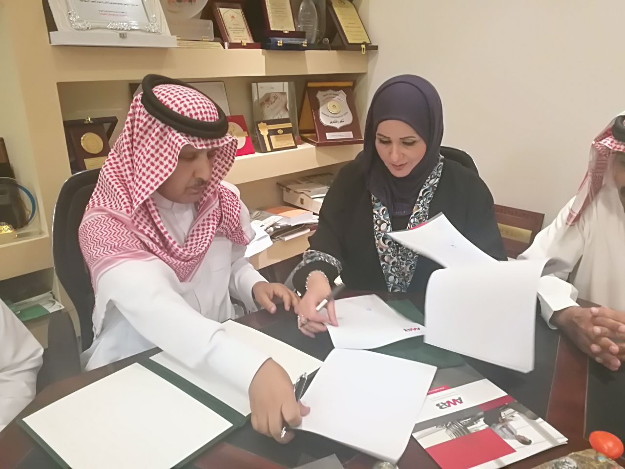 The signing of a cooperation agreement between AWAB and the Saudi Management Association