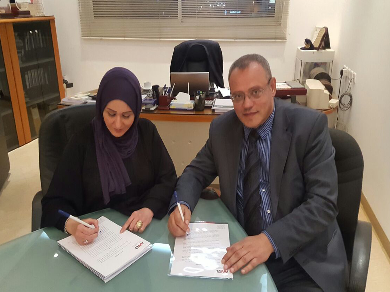 Sign cooperation agreement in training field